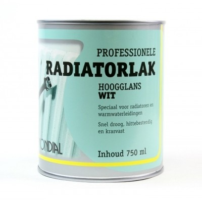Mondial Radiatorlak Wit 750ML