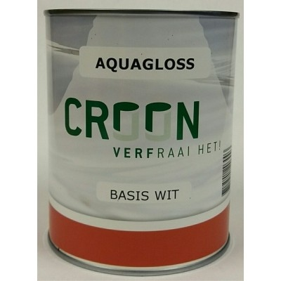 Foto van Croon Aquagloss Wit 1L