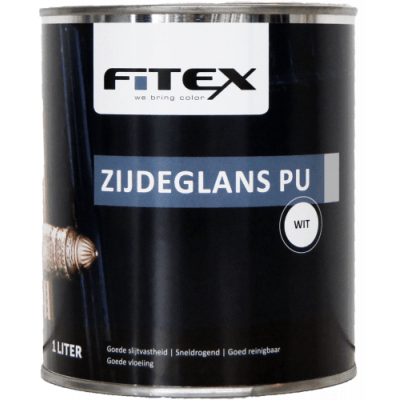 Fitex Zijdeglans PU Wit 1L