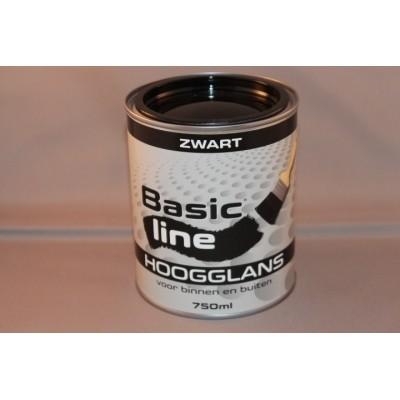 Foto van Basicline Zwart Hoogglans 750ML
