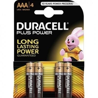 Foto van Duracell LR03 (AAA) Plus Power (bls@4)