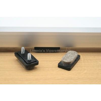 Foto van Viltglijder rechthoekig voor vlakke buisframe met vervangbaar vilt 32x15mm