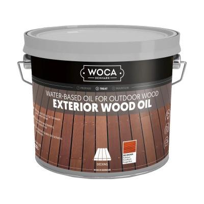 Foto van Woca Exterior Wood Oil Roodbruin