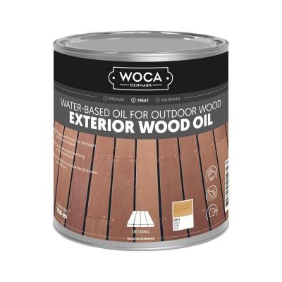 Foto van Woca Exterior Wood Oil Grijs