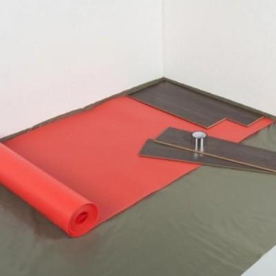 Foto van Isoheat Rood 2mm Ondervloer voor vloerverwarming
