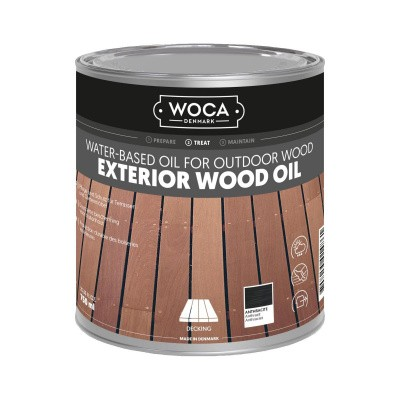 Foto van Woca Exterior Wood Oil Antraciet