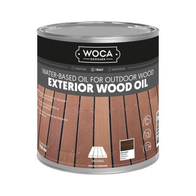 Foto van Woca Exterior Wood Oil Walnoot