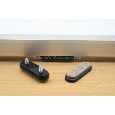 Foto van Viltglijder voor vlakke buisframe met dubbele schroef (vervangbaar)