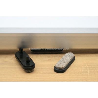 Foto van Viltglijder voor vlakke buisframe met dubbele pen (vervangbaar)