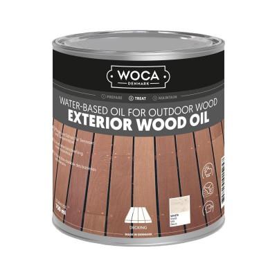 Foto van Woca Exterior Wood Oil Wit