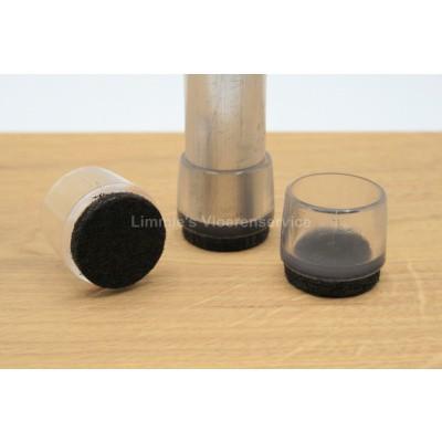 Foto van Viltglijder voor ronde poten transparant PVC
