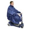 Afbeelding van Poncho Deluxe voor scootmobiel met mouwen blauw