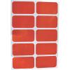 Afbeelding van Reflector Stickers rood (set van 10 stuks)
