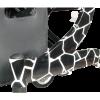 Afbeelding van Lichtgewicht DESIGN Rollator Giraffe Zwart - Wit