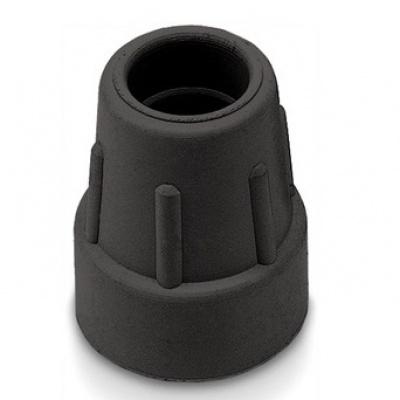 Dop wandelstok 25 mm Zwart