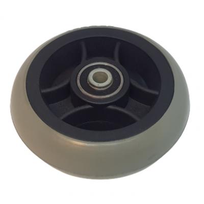 Wiel 100x30mm (5x1.1/4 inch) massief grijs