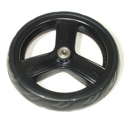 Rollator wiel 190x40mm massief (kaigo soft) zwart