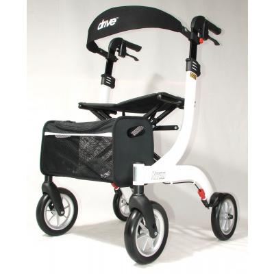 Lichtgewicht rollator Nitro medium wit met ultra soft wielen