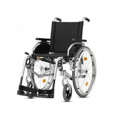 Small Lichtgewicht rolstoel Pyro Start zilver (zitbreedte 40cm)