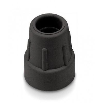 Dop wandelstok 19 mm Zwart