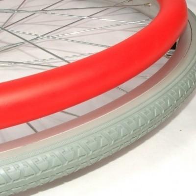 Foto van Hoepelovertrek rood voor rolstoelwiel (per stuk)