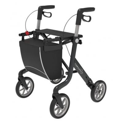 Ultra lichtgewicht rollator Streamer Zwart Medium