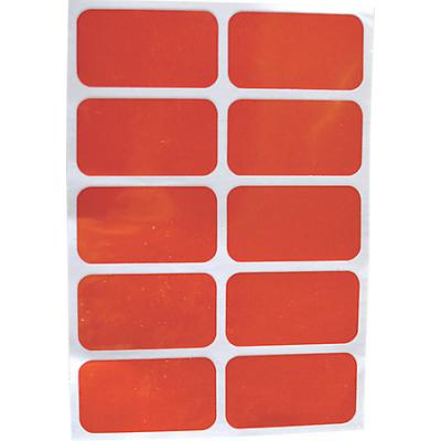 Reflector Stickers rood (set van 10 stuks)