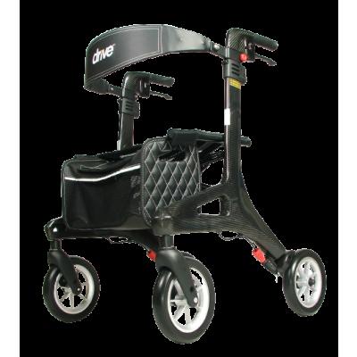 Ultra Lichtgewicht rollator Nitro Carbon (large) met ultra soft wielen