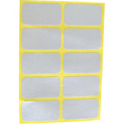 Reflector Stickers wit (set van 10 stuks)