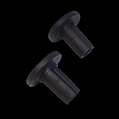 Doppen SET voor ontvangstbuis van zitje rollator Taima (voorkant)