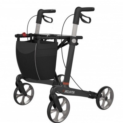 Ultra Lichtgewicht rollator Athlon carbon (medium) ZWART