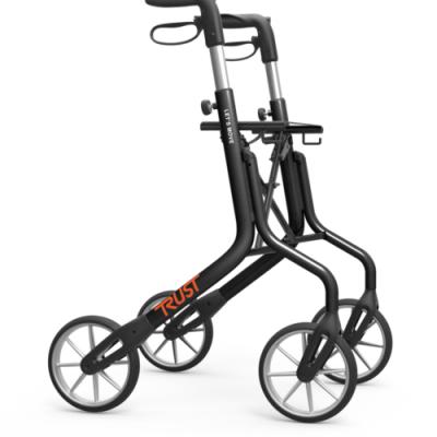 Ultra Lichtgewicht Rollator Let's Move Zwart