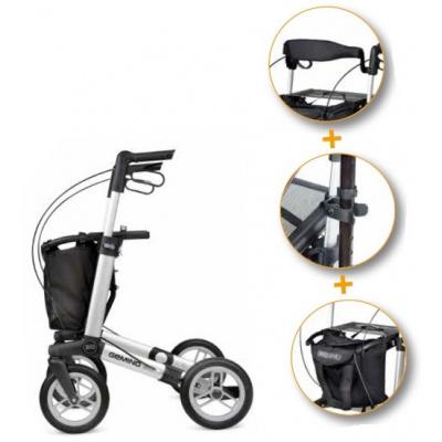 Lichtgewicht rollator Gemino 30 Comfort Plus Zilver