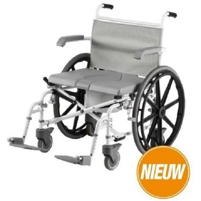 Foto van Douche - Toilet Rolstoel XL verrijdbaar Duo Motion 24 inch wielen