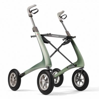 Ultra Lichtgewicht Carbon Rollator Overland Metallic Groen