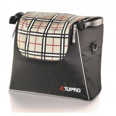 Rollator tas voor rollator Topro Troja Classic en 2G (tartan red champagne)