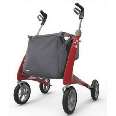 Ultra Lichtgewicht Carbon Rollator by Acre (4.9 kg) Rood