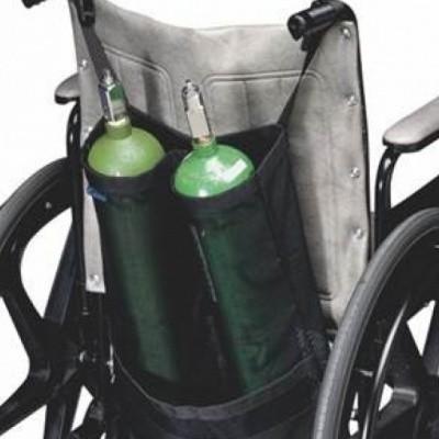 Rolstoel tas voor 2 zuurstof flessen