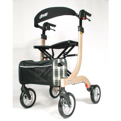Lichtgewicht rollator Nitro Champagne LARGE met ultra soft wielen