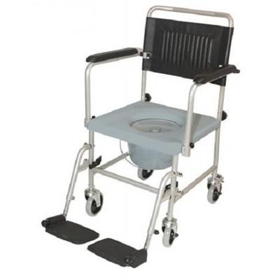 Foto van Toilet Po stoel - overzetstoel - verrijdbaar