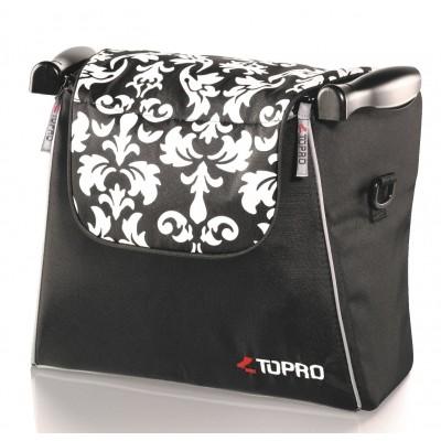 Rollator tas voor Troja Classic en 2G (baroque zwart-wit)