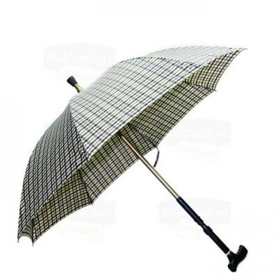Wandelstok en paraplu (2 in 1) Beige