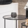 Afbeelding van Waxinelichthouder-Zwart -Metaal- 9cm