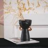 Bild von Vase schwarz mit Goldohrring-12x11x18cm