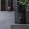 Afbeelding van Lantaarn katoen ø24x36cm zwart