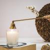 Bild von Kerze über Gold - 26x4x5cm