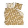 Bild von Dekbedovertrek Golden Flowers Okergeel - 200x220 cm