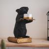 Afbeelding van Muizen kandelaar-8x16x14 cm-Zwart-Housevitamin