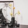 Bild von Pistolenvase - Schwarz - 20.5x18x15cm