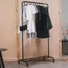 Bild von Metallkleidung Rack-Black-80x40x150cm